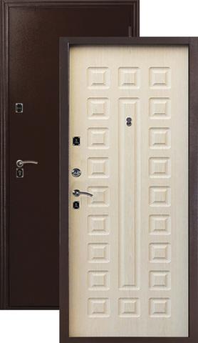 Дверь входная Меги ДС-181, 2 замка, 1,2 мм  металл, (медь+беленый дуб)