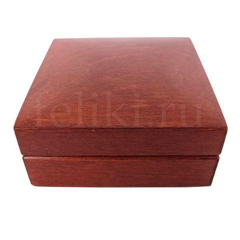 футляр коричневый из дерева для серег