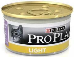 Pro Plan Light консервы для взрослых кошек с избыточным весом, паштет с индейкой, 85 г
