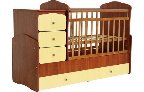 Кровать детская Фея 2100 орех-лимонный