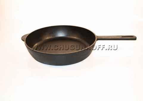Сковорода с чугунной литой ручкой 260х60
