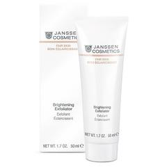 Пилинг-крем для выравнивания цвета лица, для всех типов кожи Brightening Exfoliator, Fair skin, Janssen Cosmetics, 50 мл