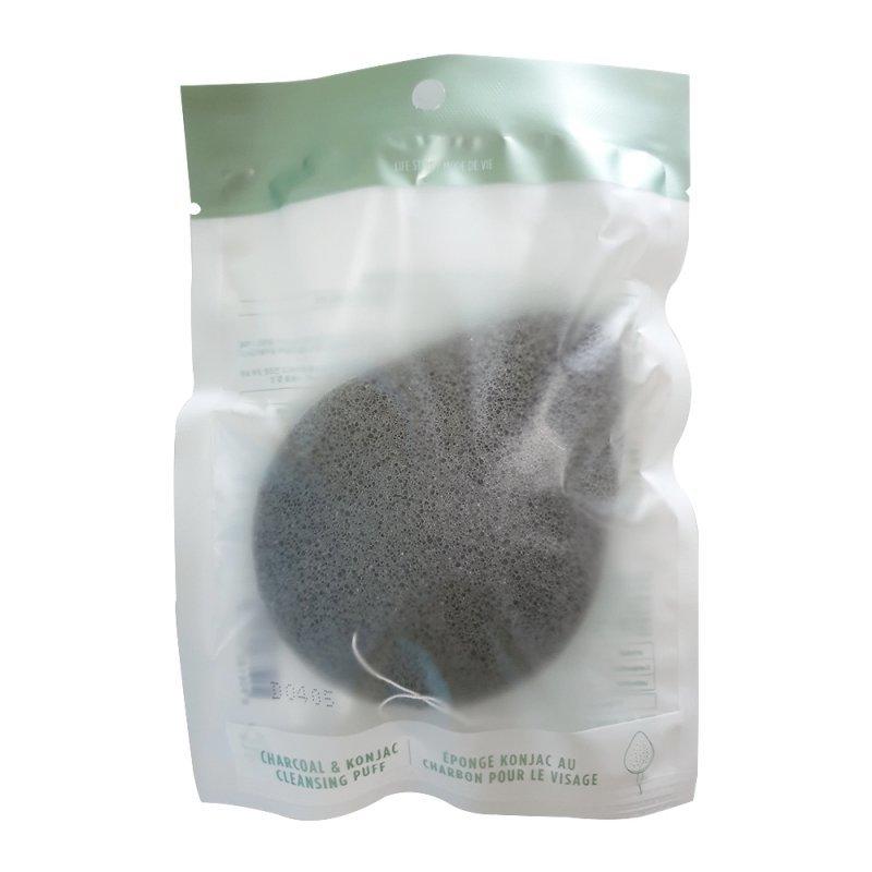 Конжаковый спонж Charcoal & Konjac Cleansing Puff