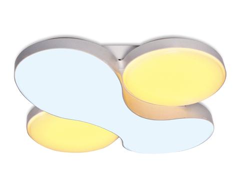 Потолочный светодиодный светильник с пультом FG1055/1 WH 52W 360*360*105 ORBITAL (ПДУ РАДИО 2.4)