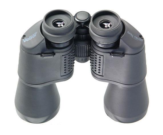 Резиновые окуляры и покрытие бинокля Veber БПЦ 16х50, серый
