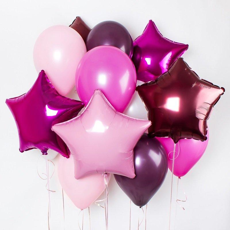 Купить фольгированные звезды розовые в Перми