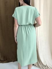 Аріадна. Однотонна гарна сукня великих розмірів. Оливка