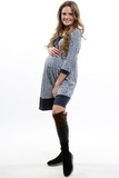 Платье для беременных 06018 синий-белый