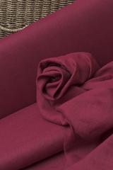 Облегченный смягченный лён  цвет  БОРДО