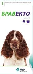 Жевательная таблетка Бравекто (MSD Animal Health) Для собак массой 10–20 кг