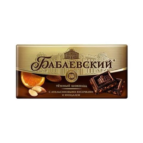 Шоколад Бабаевский с апельсиновыми кусочками и миндалем, 100 гр.