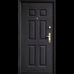 Дверной блок металл. эконом 860х2050 правый (улица/помещение)