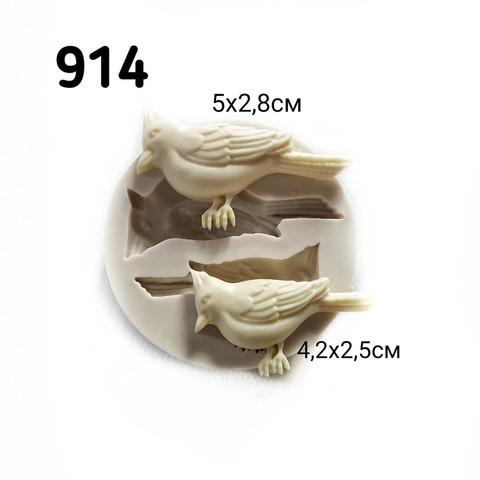 0914 Молд силиконовый. Две птички