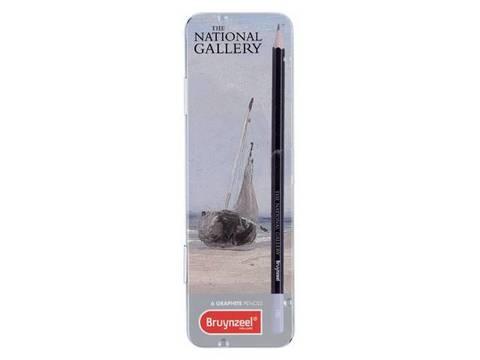 Набор чернографитных карандашей 'Ла-Ферте' Бонингтон 6 штук в металлической упаковке
