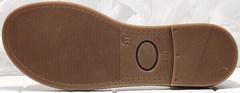 Летние сандали босоножки на плоской подошве Evromoda 454-402 White.