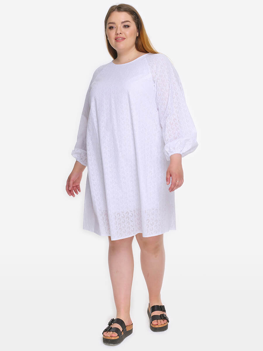 Платье-туника  Хлоя, цвет белый