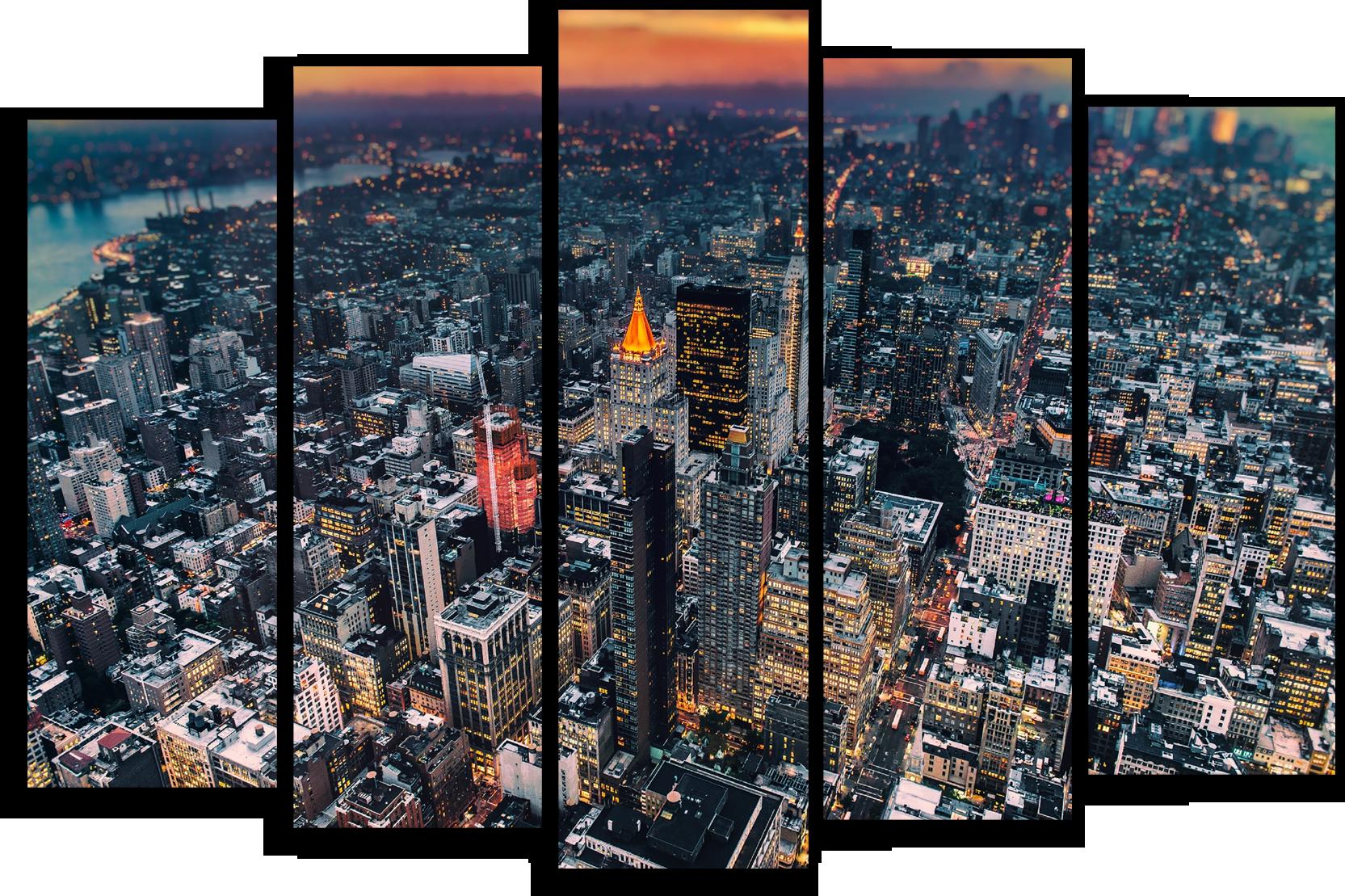 """Города Модульная картина """"Манхэттен"""" М435.png"""