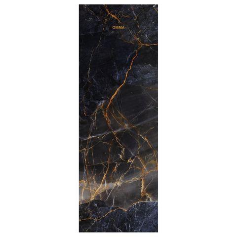 Коврик для йоги Black Onyx 61*0,1-0,3 см из микрофибры и каучука