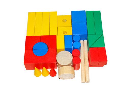 Набор настольный деревянный 45 элементов