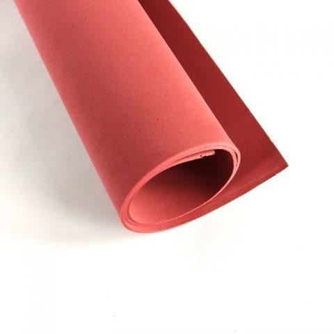 Фоамиран иранский 1мм. Размер: 30*35см. Цвет: приглушенный красный