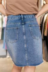 Джинсовая юбка с короткой молнией купить