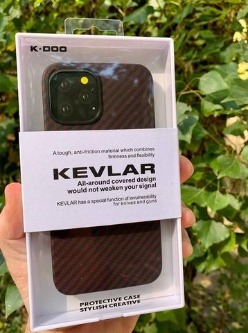 Чехол iPhone 12 Pro /6,1'' K-DOO Kevlar case /red/
