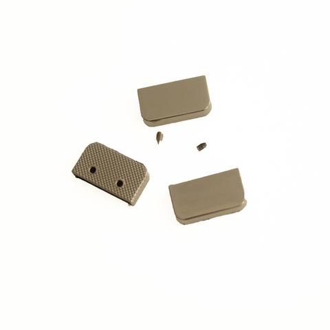 Металлическая кромка концевая для хлястика, цвет черный, длина 2,5 см