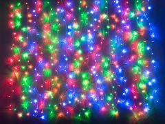 m03.5T240+ гирлянда-занавес 240 LED Мульти 2х2м, 16 нитей