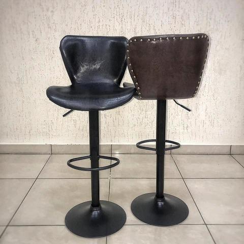 Барный стул Over Dark Retro. Глянец