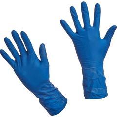 Перчатки медицинские смотровые латексные Benovy High Risk нестерильные неопудренные размер L (50 штук в упаковке)