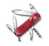 Нож Victorinox Evolution 10.600, 85 мм, 13 функций, полупрозрачный красный