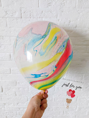 Мраморный воздушный шар