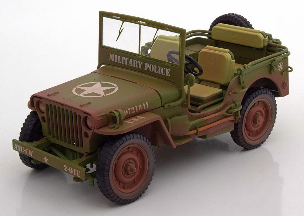 Коллекционная модель Jeep Willys Military US Army Police Dirty 1944 Dark Green