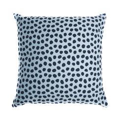 Чехол для подушки из хлопка с принтом Funky dots серо-голубой Cuts&Pieces 45х45 Tkano