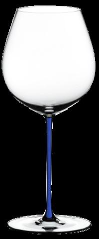 Riedel Fatto a Mano - Фужер Old World Pinot Noir 705 мл хрустальное стекло с синей ножкой (stemglass) картон