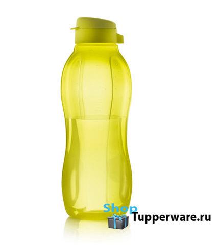Бутылка Эко 1,5 л с клапаном в желтом цвете