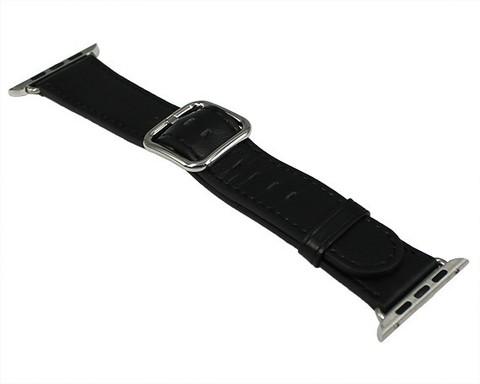 Ремешок для Apple Watch 42mm/44mm Классик | искусственная кожа черный