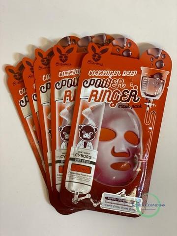 Elizavecca Маска тканевая для лица с коллагеном - Collagen deep power ringer mask pack, 23мл
