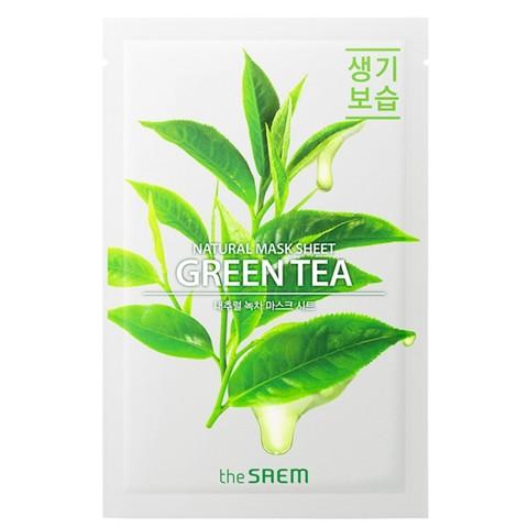 Маска для лица с экстрактом зеленого чая The Saem Natural Green Tea Mask Sheet