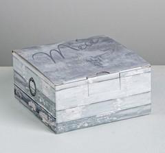Коробка‒пенал «Тебе», 15 × 15 × 7 см, 1 шт.