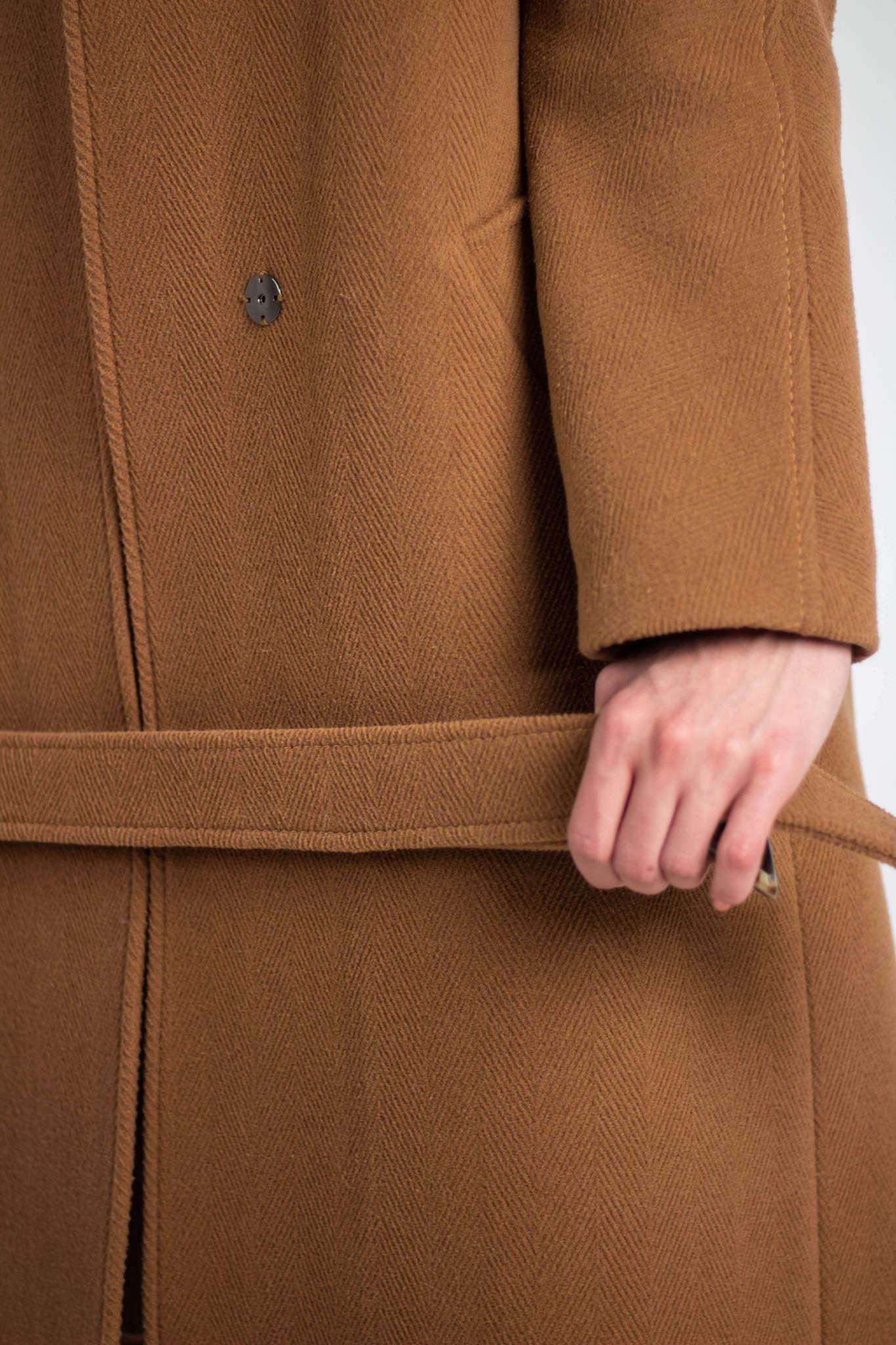 Пальто удлиненное прямого силуэта
