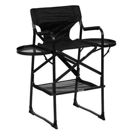 Стул/ кресло визажиста складной. Алюминий. Черный.
