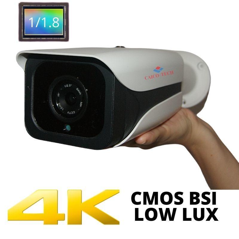 Уличная ZOOM видеокамера наблюдения технологии STARLIGHT 8Mpix