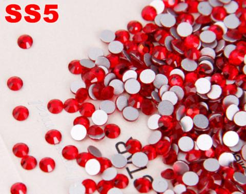 Стразы SS5 красный сиам 100 шт