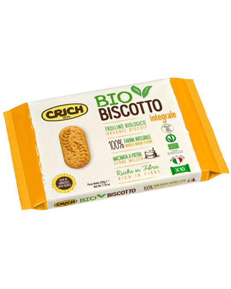 Печенье Crich цельнозерновое органический продукт, 220 гр.