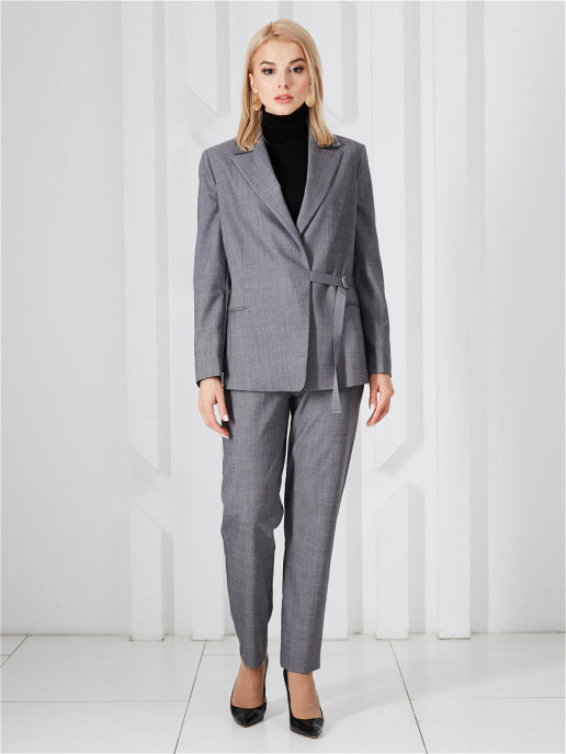 Пиджак 20960f серый