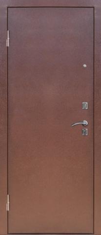 Дверь входная S-4 стальная, миланский орех, 1 замок, фабрика Арсенал