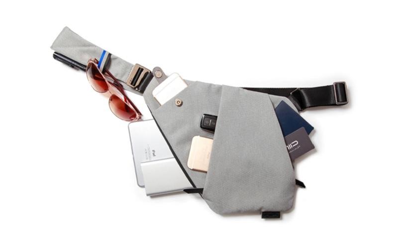 Ультратонкая сумка-мессенджер - серый