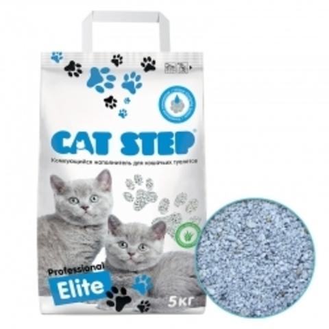 Наполнитель для кошачьих туалетов Cat Step Professional Elite с ароматом Алоэ вера 5 кг, комкующийся