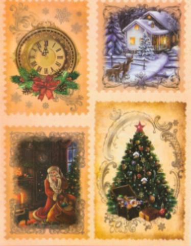 017-2414 Декупажная карта «Новогоднее чудо», 29.7 × 21 см